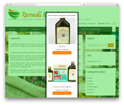 Clean Commerce theme WordPress - naturiste-tirban-plant.ro