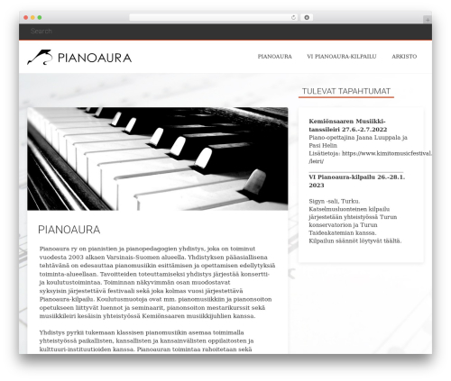 Everal template WordPress - pianoaura.fi