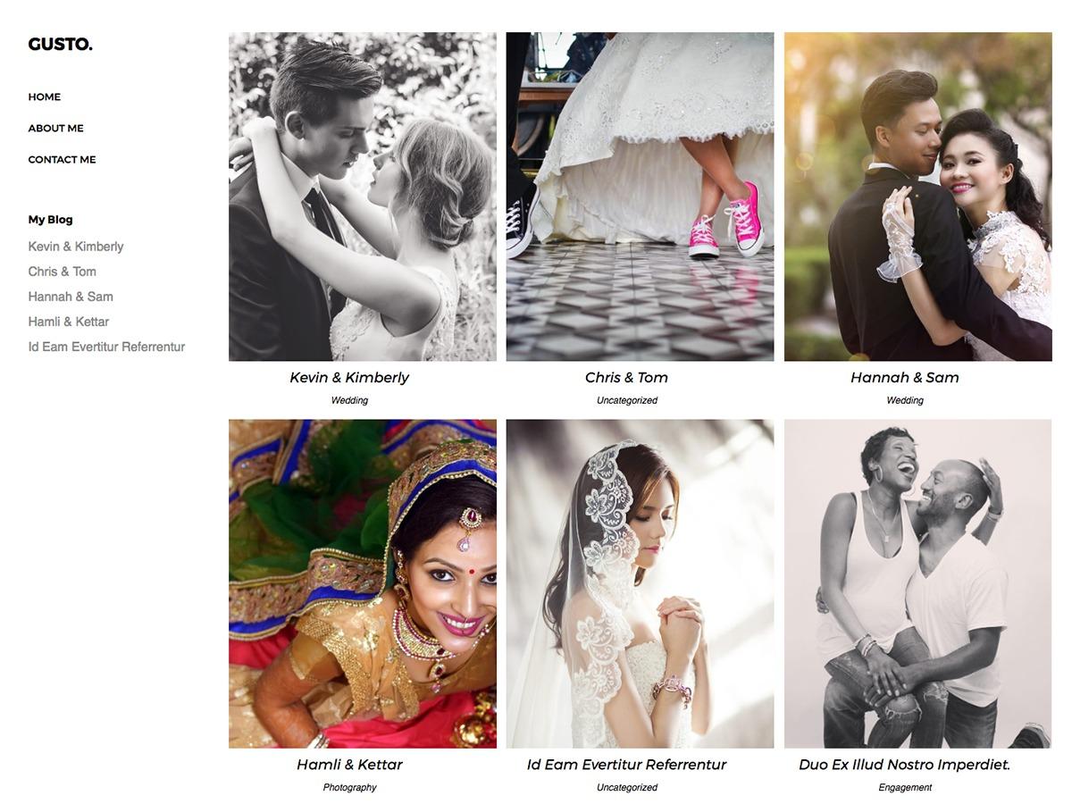 Gusto Photography WordPress theme image