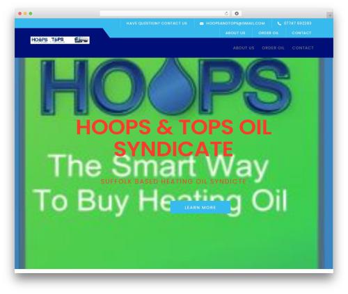 Logistix WordPress theme - hoops-oil.co.uk