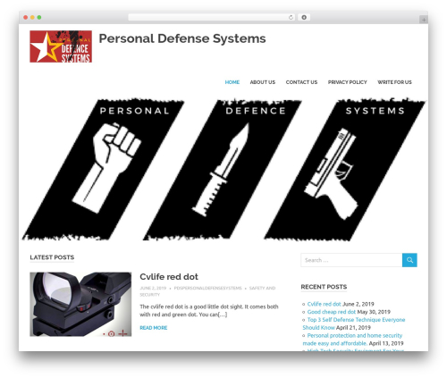 Poseidon free website theme - pdspersonaldefensesystems.com