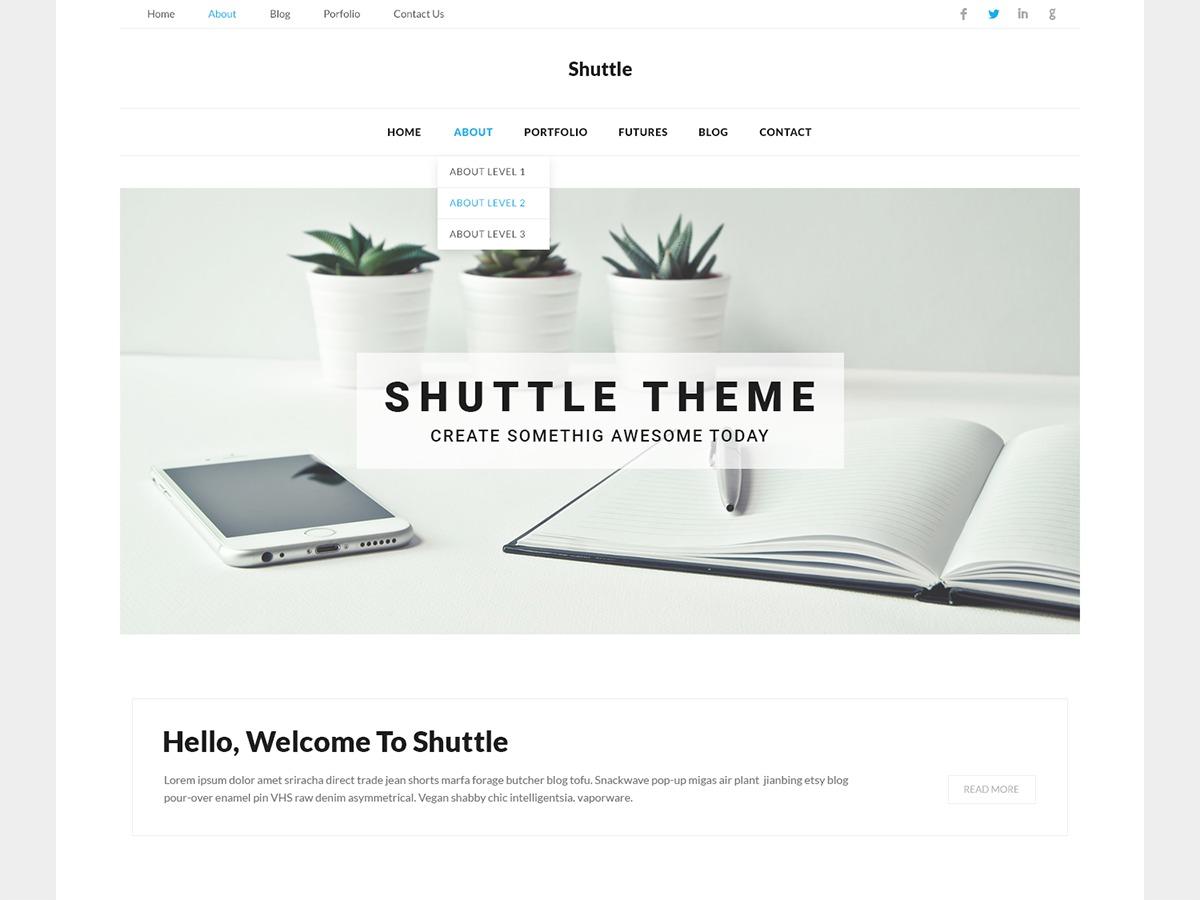 Shuttle Corporate WordPress store theme