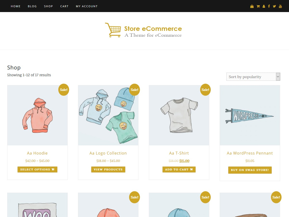 Store eCommerce photography WordPress theme
