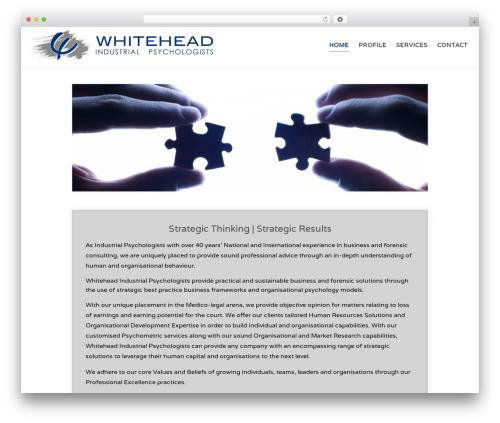 WordPress theme Chester - whiteheadip.co.za