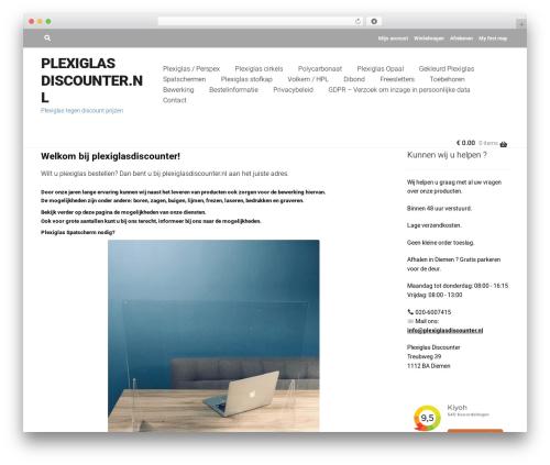 WordPress theme RETAILER - plexiglasdiscounter.nl