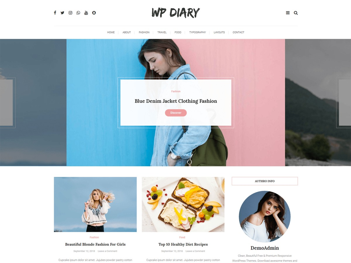 WP Diary WordPress news template