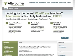 Afterburner Wordpress Theme WordPress page template