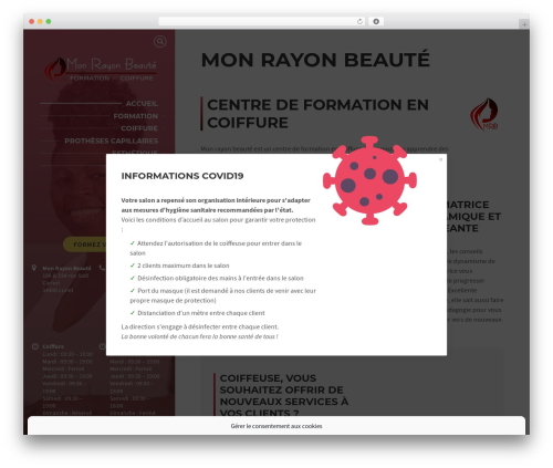 BeautySpot WordPress template - monrayonbeaute.com