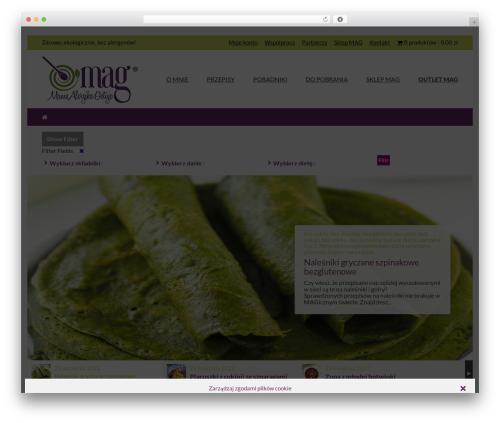 Best WordPress theme Cookbook - mamaalergikagotuje.pl