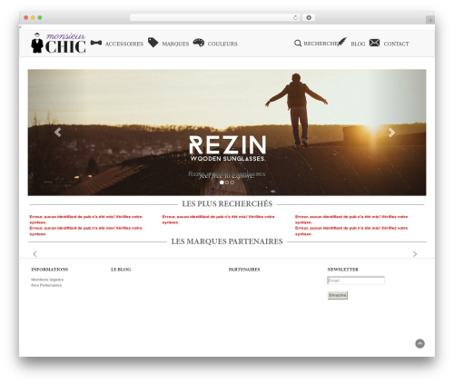 BLANK Theme template WordPress - monsieur-chic.com