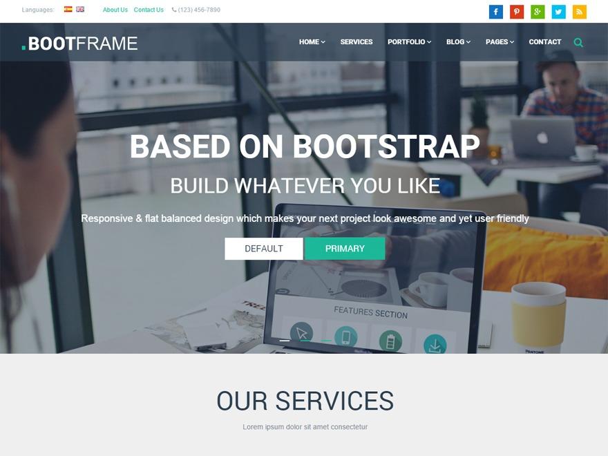 BootFrame WordPress blog theme