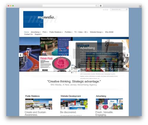 Chameleon WordPress page template - mgmedia.com