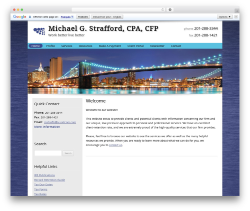 Customized WordPress template for business - michaelstraffordcpa.com