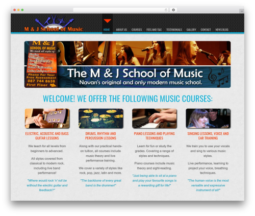 D5 Business Line Extend WordPress theme - mandjschoolofmusic.com