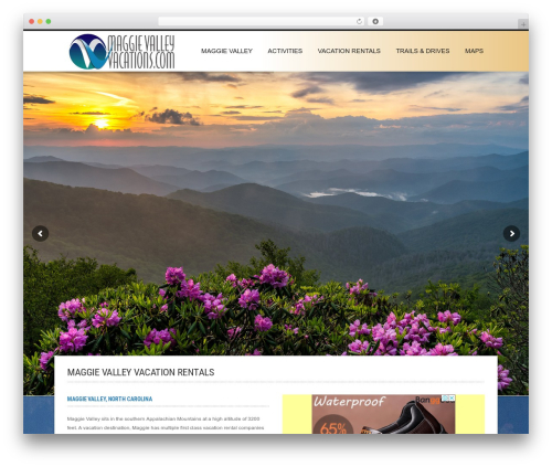 Hotec company WordPress theme - maggievalleyvacations.com