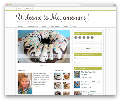 Innovative Child Theme food WordPress theme - megamommy.com