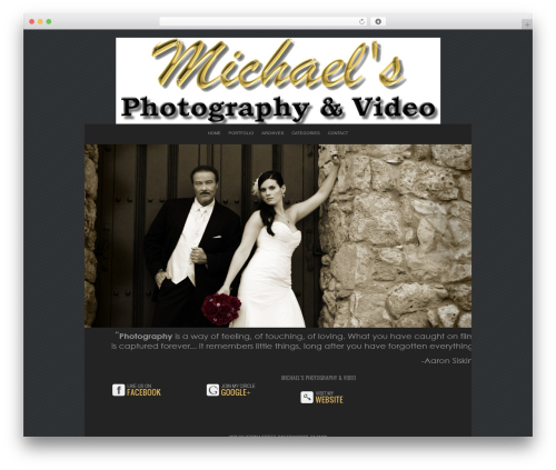 ProPhoto WordPress blog template - michaelsphotographyblog.com
