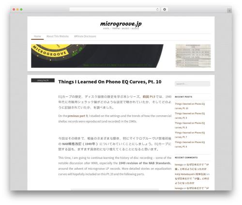 Skirmish WordPress page template - microgroove.jp