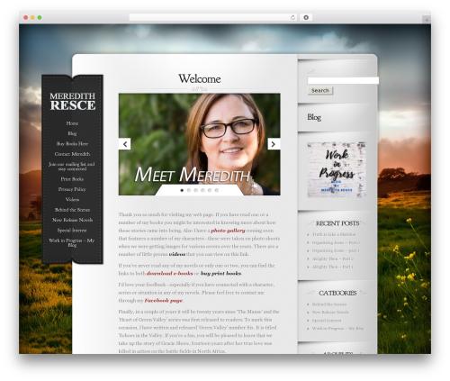 Template WordPress Memoir - meredithresce.com