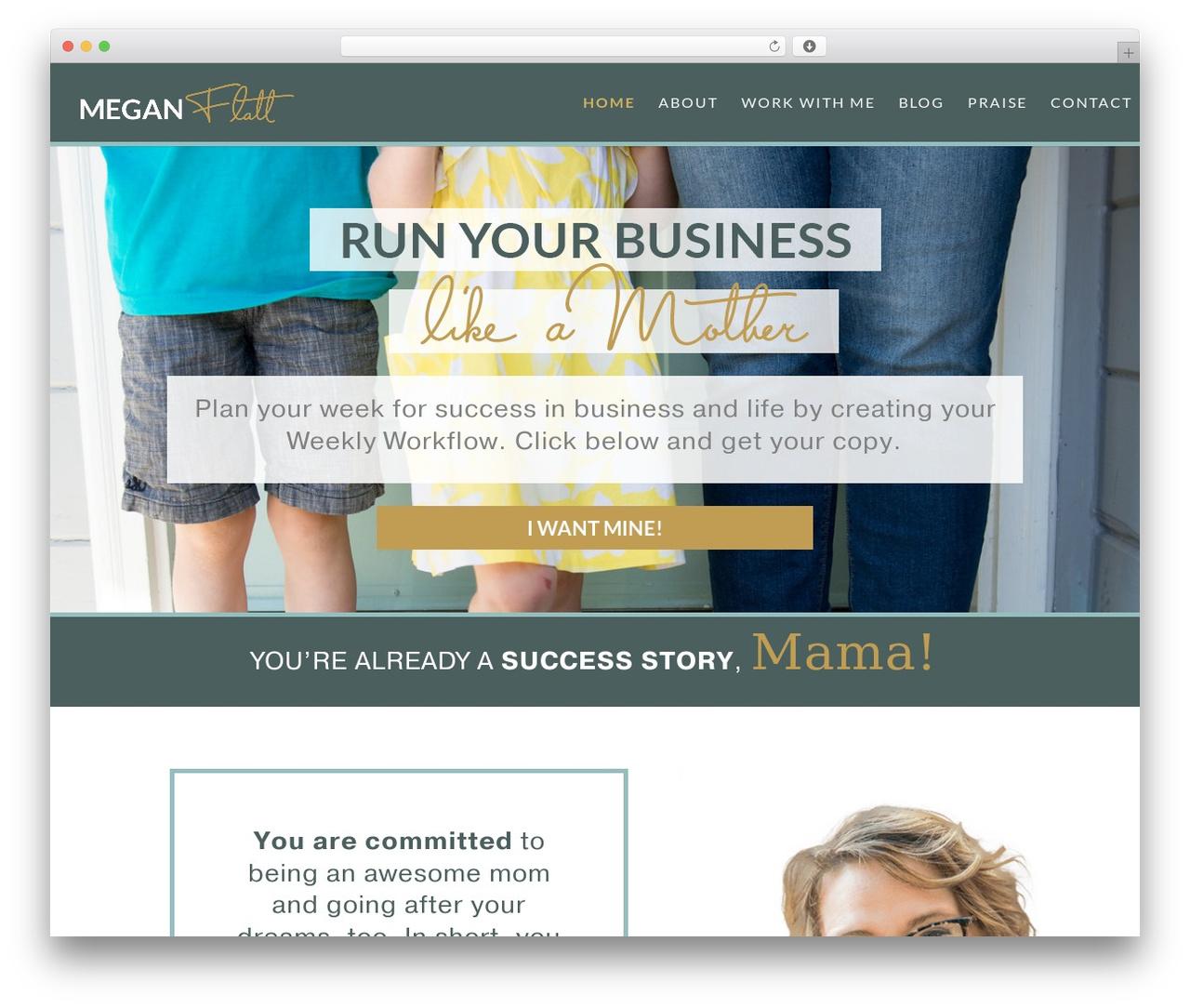 Theme WordPress Divi - meganflatt.com