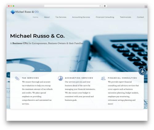 Theme WordPress Finance - michaelrussocpa.com