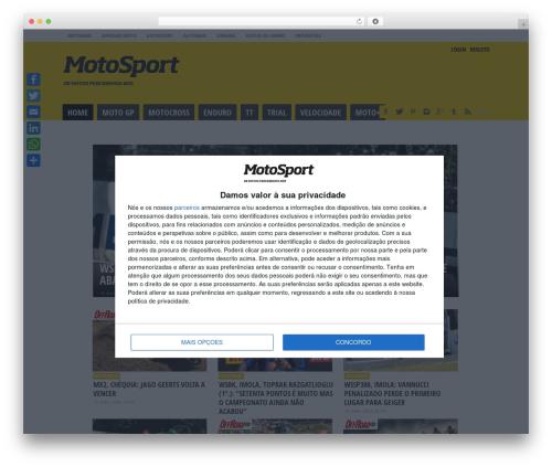 Free WordPress e-goi Mail List Builder plugin - motosport.com.pt