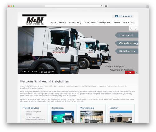 theme1769 business WordPress theme - mandmfreightlines.com.au