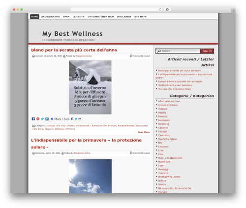 WordPress theme Lonelytree - mybestwellness.it