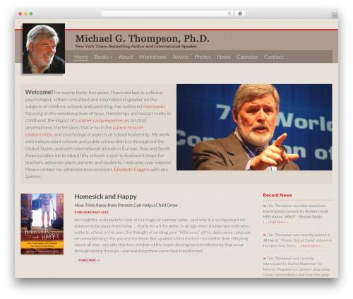 WordPress theme MThompson - michaelthompson-phd.com