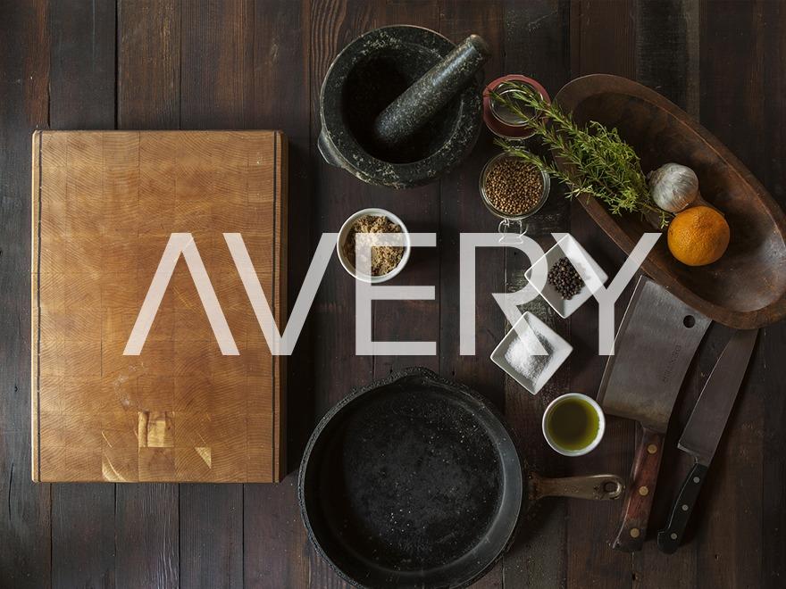 WordPress website template Avery