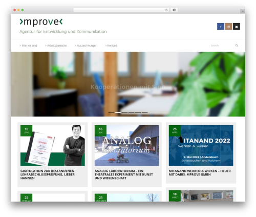 WordPress website template Sento Pro - mprove.at