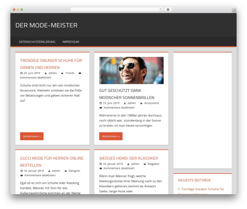 WP theme Tortuga - mode-meister.de