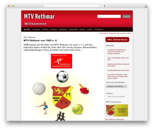 Best WordPress template Third Style - mtv-rethmar.de