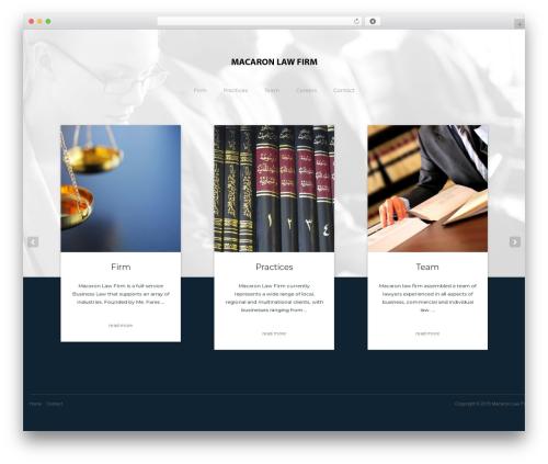 Bizly business WordPress theme - macaronlawfirm.com