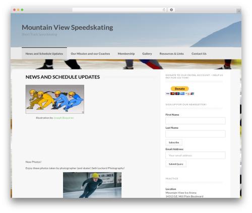 Coller free WordPress theme - mtviewspeedskating.org