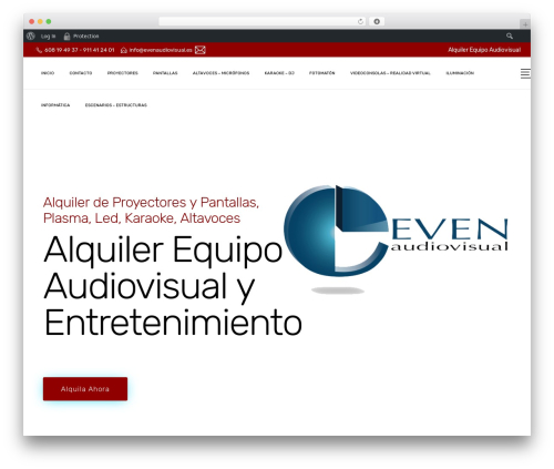Deep best WordPress video theme - madrid-alquiler.es
