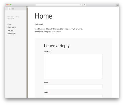 Editor WordPress theme design - mollyebailey.com