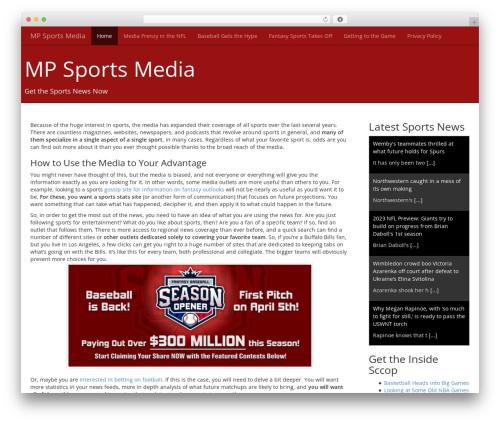 Flint WordPress news theme - mpsportsmedia.com