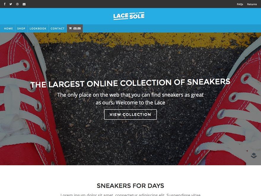 Lace and Sole theme WordPress