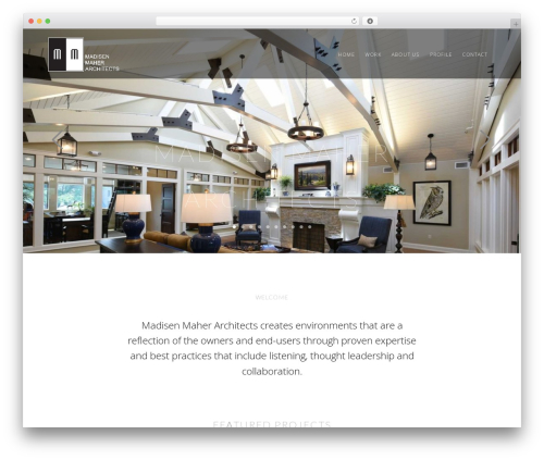Mies WordPress theme design - madisenmaher.com