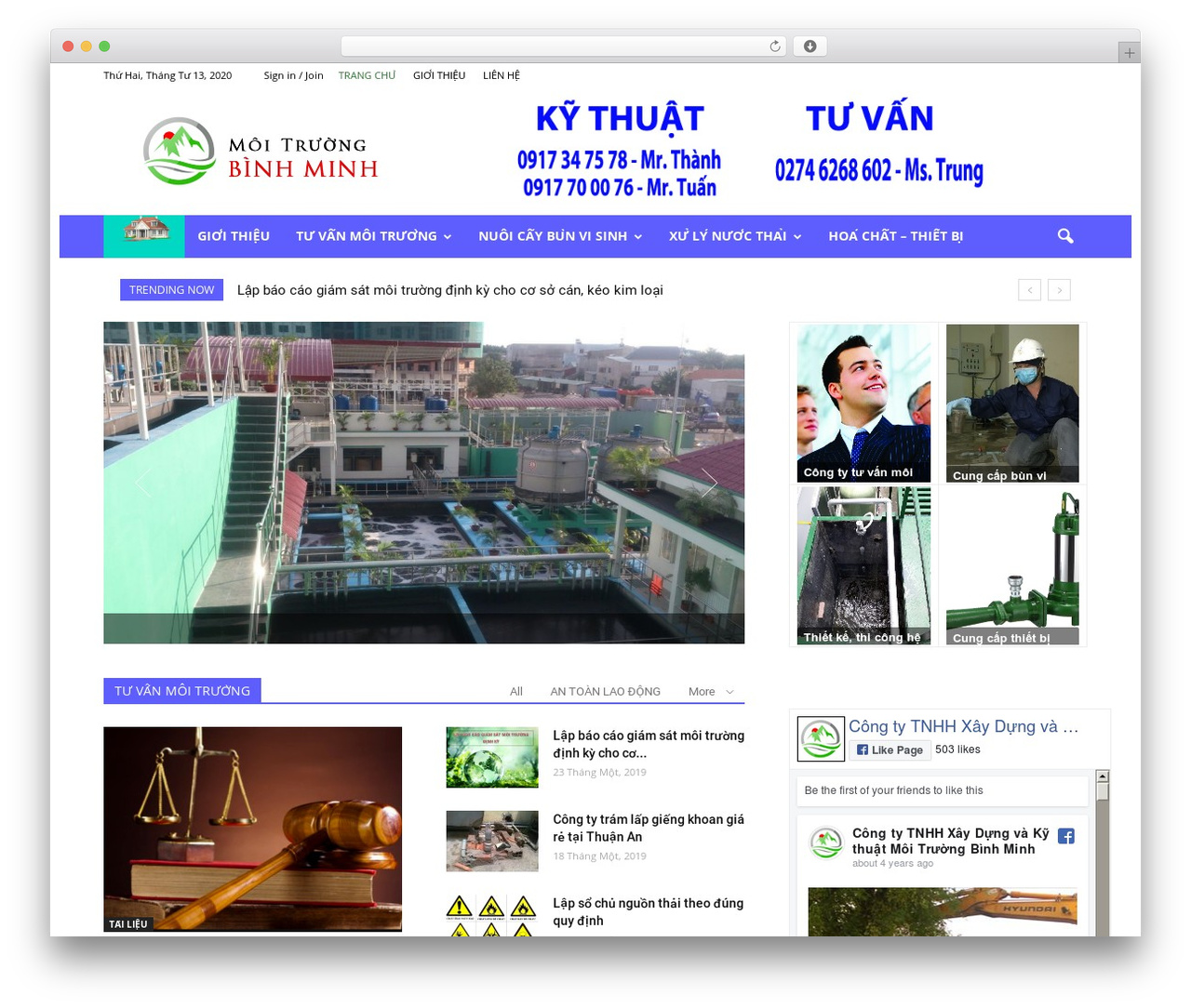 Newspaper newspaper WordPress theme - moitruongbinhminh.com