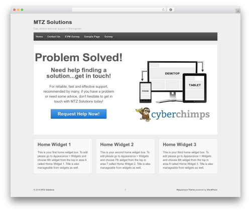 Responsive theme WordPress free - mtzsolutions.co.uk