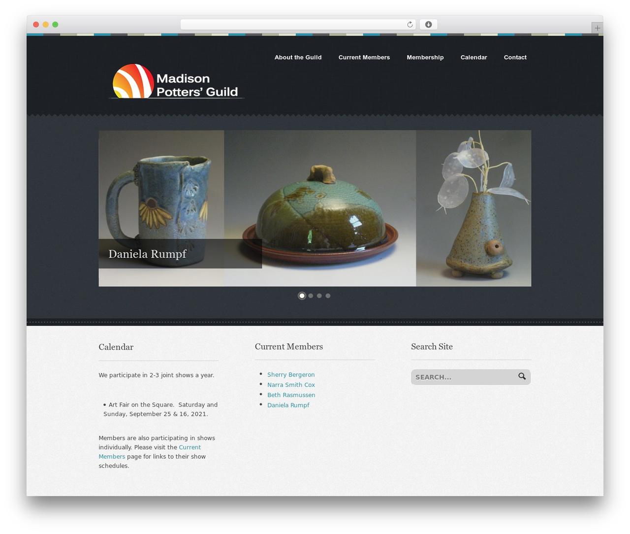 Swatch template WordPress - madisonpottersguild.com