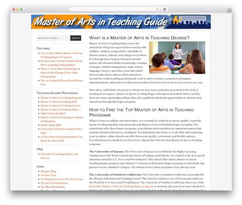 WordPress theme Georgia Child Theme - masterofartsinteaching.net
