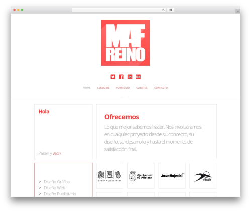 WordPress theme The Grid - mafreino.com