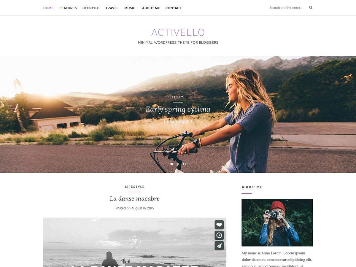 Activello Child WordPress shop theme