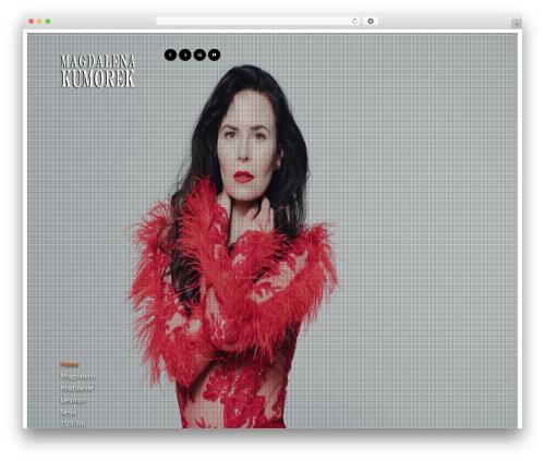 Agora template WordPress - magdakumorek.com