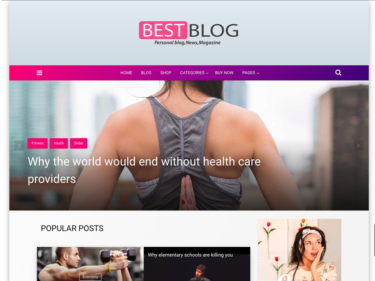 Best Blog fashion WordPress theme