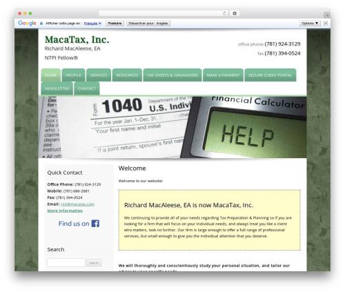 Customized premium WordPress theme - macatax.com