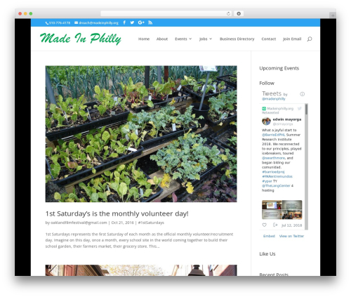 Divi WordPress page template - madeinphilly.org